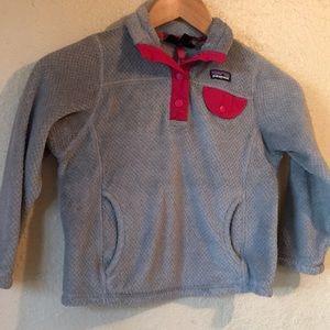 Patagonia girls pullover fleece xs 5-6